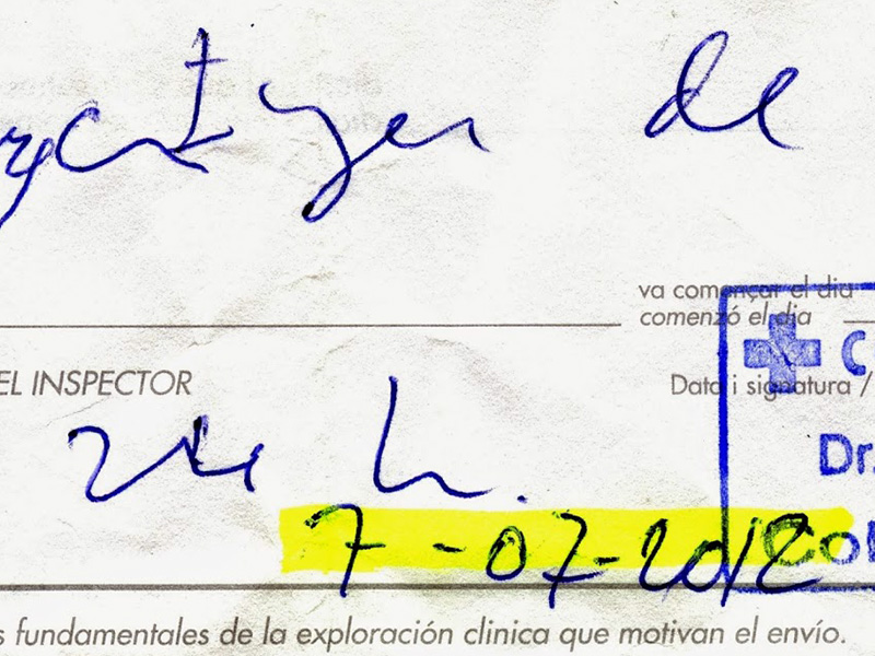 Falsificación de firmas en documentos
