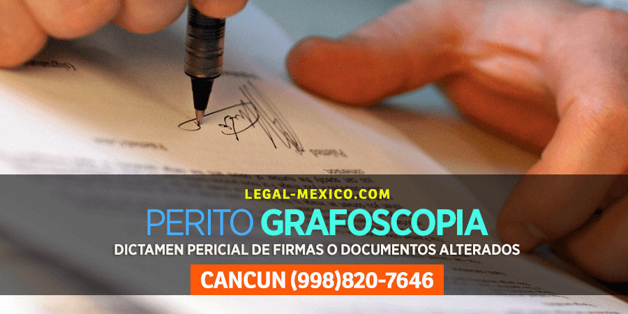 Dictamen Pericial en materia de Documentoscopia