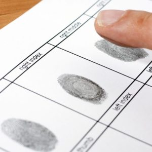 Huellas dactilares en formato de antecedentes no penales