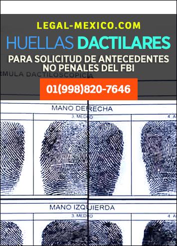 Toma de huellas digitales o dactilares para la solicitud de antecedentes no penales en el formato FD-258 del FBI