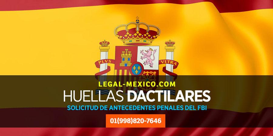 Formato antecedentes FBI de trámite migratorio en España