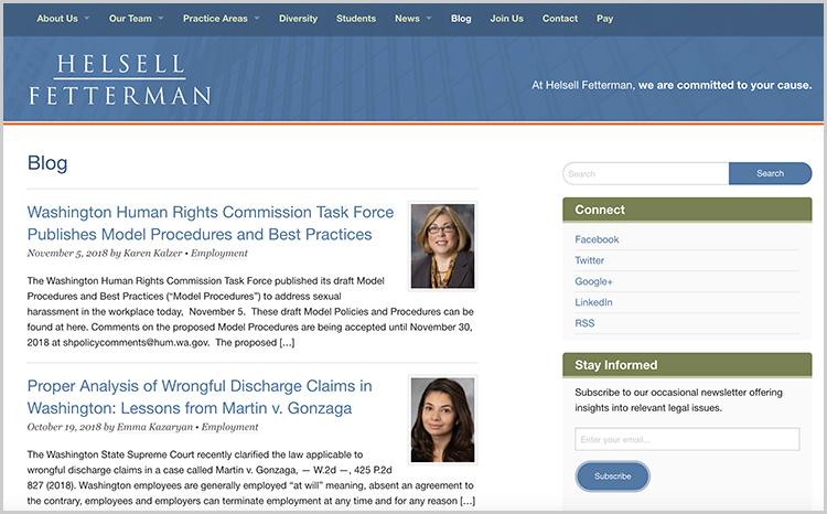Escribe publicaciones y artículos en blogs de tu área de práctica