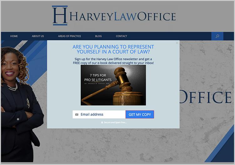 Newsletters para áreas legales específicas