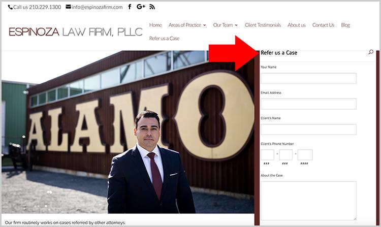 Referidos desde sitio web